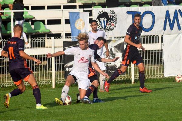 Zo zápasu MŠK Rimavská Sobota - FC Košice.