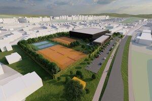 Národné tenisové centrum má vyrásť v husto osídlenej štvrti.