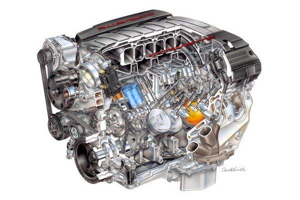 Motor Chevrolet LT1 pre model Corvette 2014.