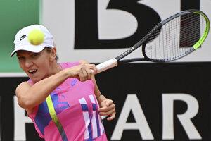 Simona Halepová na turnaji WTA v Ríme 2020.