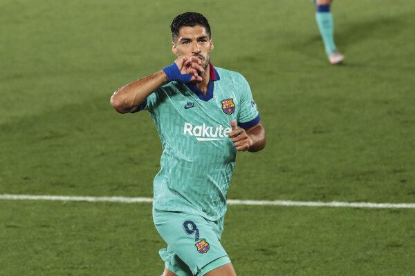 Luis Suárez v drese FC Barcelona.