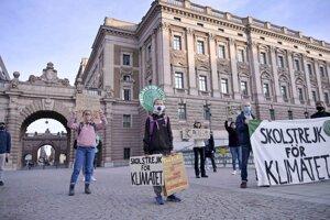 Vo Švédsku sa vonku nesmie zhromaždiť viac ako 50 ľudí, preto sa štrajkujúci prispôsobili.