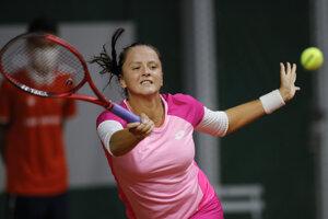 Viktória Kužmová v 1. kole Roland Garros 2020.