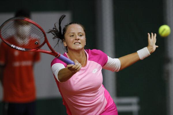 Viktória Kužmová na Roland Garros 2020.