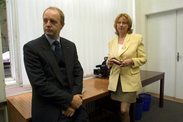 Bývalí obchodní partneri Pavol Rusko a Sylvia Volzová na archívnom zábere.