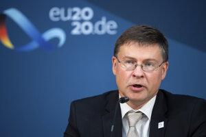 Komisár EÚ pre obchod a podpredseda Európskej komisie Valdis Dombrovskis.