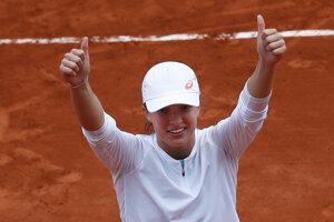 Iga Swiateková po triumfe na Roland Garros 2020.