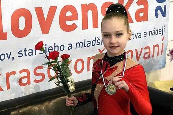 Patrícia El. Černíková vybojovala striebornú medailu v kategóri nádejí D8.