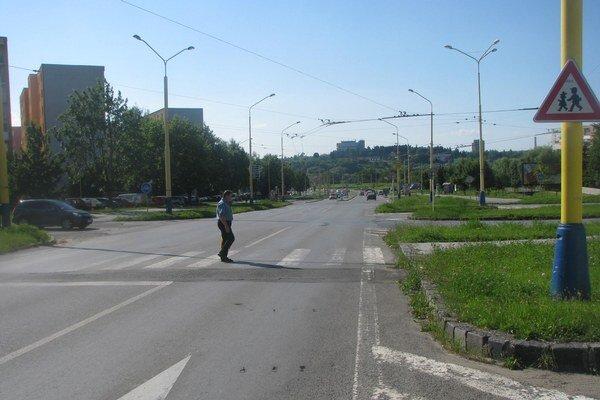 Miesto, kde malo auto zraziť chodca