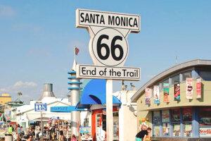Počas stáže v Michigane prešiel s ďalšími stážistami po slávnej Route 66. Jej cieľ je na móle v Santa Monice.