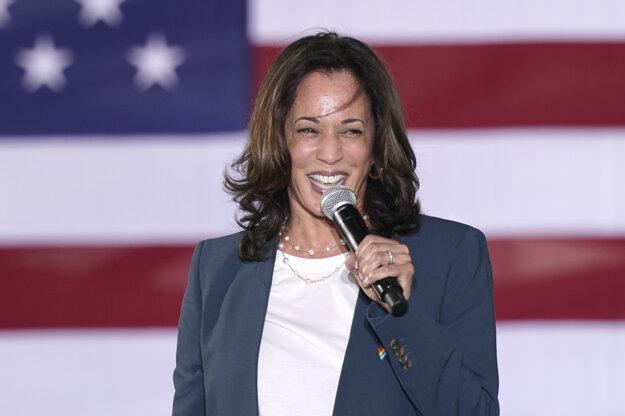 Demokratická kandidátka na viceprezidentku USA Kamala Harrisová.
