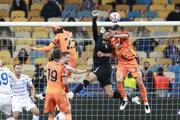 Momentka zo zápasu Dynamo Kyjev - Juventus Turín.
