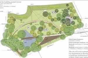 Riešenie hradného parku navrhli študenti Katedry záhradníctva  a krajinného inžinierstva SPU Nitra.