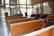 Interiér krematória prešiel úpravou.