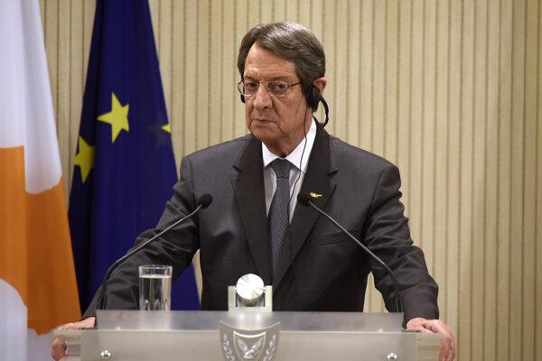 Cyperský prezident Nicos Anastasiades.