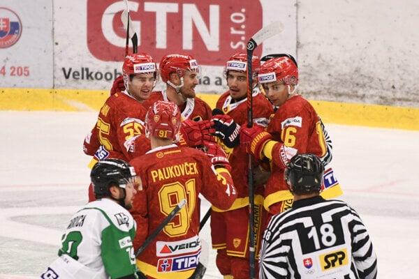 Hokejisti HK Dukla Trenčín - ilustračná fotografia.