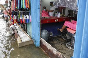 Tajfúnom Molave zasiahnutá filipínska provincia Pampanga.