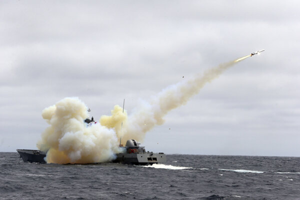 Raketový systém Harpoon.