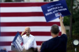 Demokratický prezidentský kandidát Joe Biden.