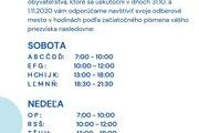 Samospráva v Topoľčanoch odporúča obyvateľom navštíviť ich odberové miesto v hodinách podľa začiatočníckeho písmena priezviska.
