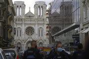 Dejisko útoku, Katedrále Notre-Dame v Nice.