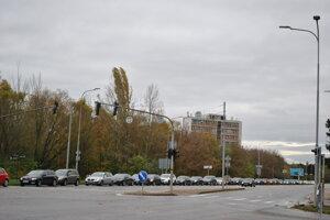 Kolóny sa smerom k drive-in odbernému miestu na Agrokomplexe tvorili od skorých ranných hodín.