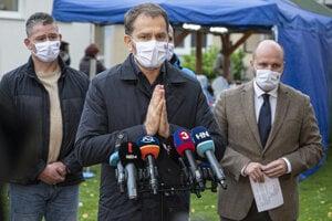 Premiér Matovič hovorí o prvých výsledkoch testovania.