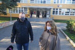 Hovorca mesta Vladimír Tomek a primátorka Andrea Turčanová (KDH).