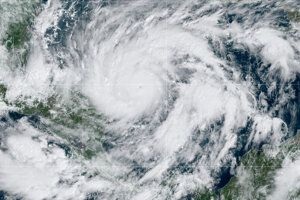 Satelitná snímka hurikánu Eta.