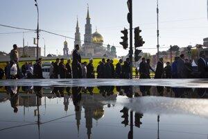 Hlavná moskovská mešita, snímka z roku 2015.