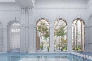 Víťazný návrh architektonickej súťaže na obnovu legendárnych kúpeľov Grössling.