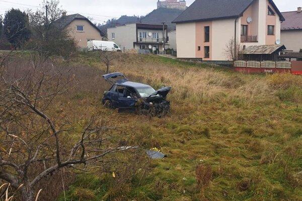 Nehoda v Krásnohorskom Podhradí.
