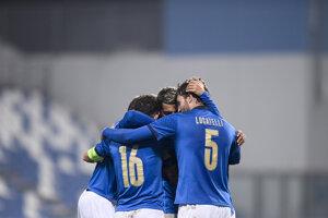 Radosť Talianska v zápase proti Poľsku.
