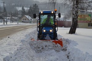 Na zimnú údržbu sú pripravení aj v Turzovke.