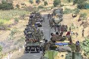 Etiópska armáda na území štátu Tigraj.