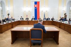 Juraj Kliment na vypočutí kandidátov na funkciu generálneho prokurátora.