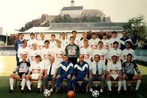 Mužstvo FC Nitra, ktoré v sezóne 1993/94 účinkovalo v prvom ročníku slovenskej ligy. Trénerom bol Stanislav Jarábek.