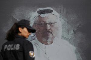 Portrét zosnulého saudskoarabského novinára Džamála Chášukdžího.