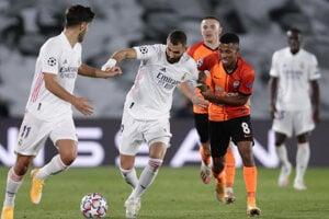 Momentka zo zápasu Real Madrid - Šachtar Doneck, Liga majstrov dnes.