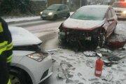 Nehoda v Lamači na Hodonínskej.