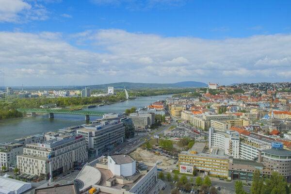 Pohľad na bratislavskú mestskú časť Staré Mesto.
