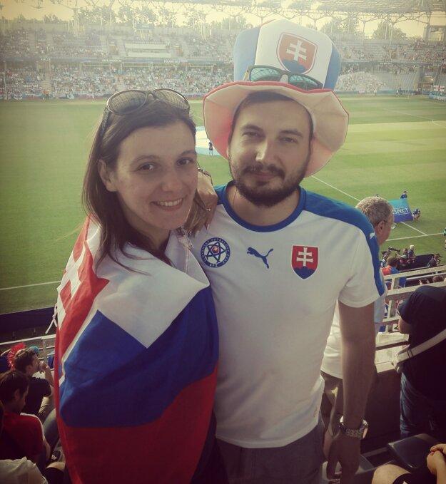 S manželom na zápase reprezentácie.