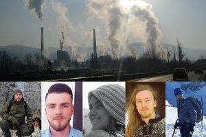 Experti na kvalitu ovzdušia. Zľava Imrich Fekete, Ján Rudy, Jana Pavlíková, František Luterančík a Radoslav Virgovič.