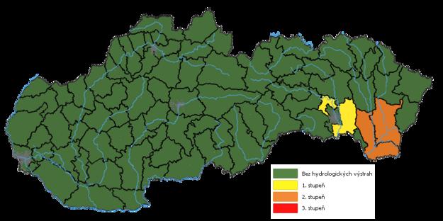 Hydrologické výstrahy zo 7. januára 2021.