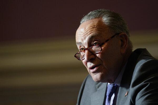 Líder demokratickej menšiny v americkom Senáte Chuck Schumer.
