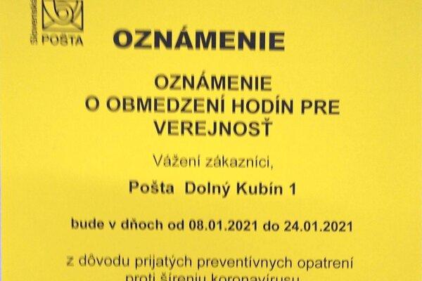 Pozor na zmenu v otváracích hodinách Slovenskej pošty.
