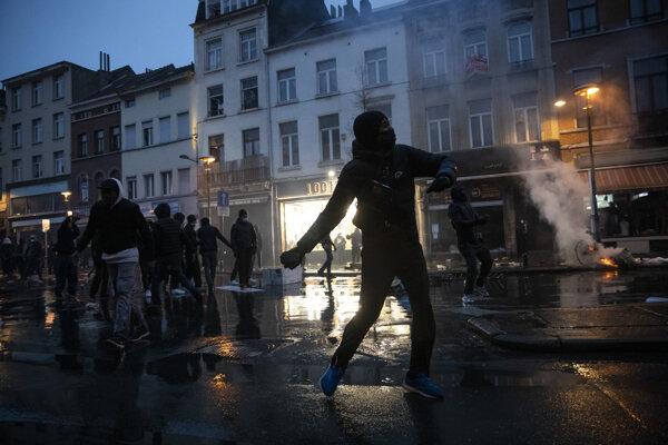 Protest v Bruseli.
