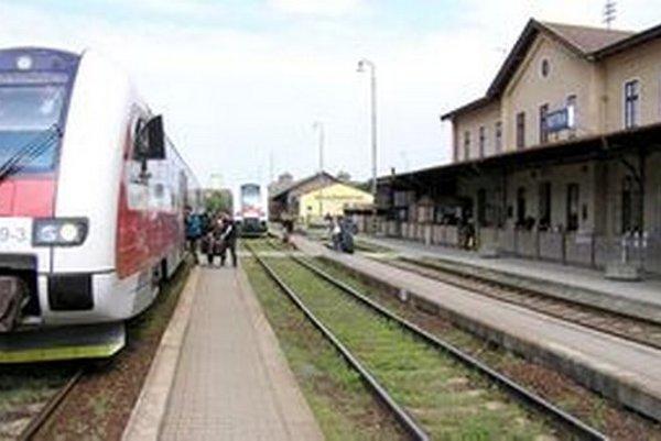 Železničná stanica v Nitre.