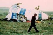 Trosky lietadla po útok nad Lockerbie z roku 1988.