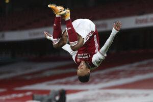 Pierre-Emerick Aubameyang z tímu Arsenal Londýn.